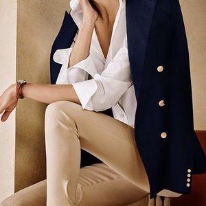 Lauren Ralph Lauren navy pure wool petite blazer